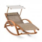 Malibu swingbed met dak ComfortMesh max.150 kg weerresistent crème