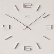 Designové kovové hranaté moderní hodiny JVD HC28.1 s 3D číslicemi