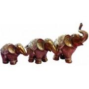 Set decorativ 3 elefanti decorati cu pietricele