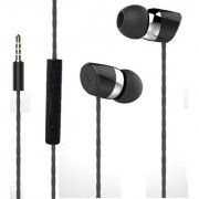 Joy Digital Universal HiFi Noise-Isolating High Bass In-Ear Piston Earphone with 3.5mm Jack With Mic - HS-008-BLACK