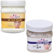 PINK ROOT DE TAN MASK 500GM WITH PEARL SCRUB 500GM