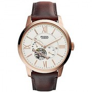 Fossil Townsman Analog Off-White Dial Mens Watch - ME3105