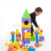 Alcoa Prime 48pcs Colorful Soft EVA Foam Building Blocks Bricks Set Children Kids Play Toys