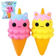Sanqi Elan Squishy Unicorn Ice Cream Jumbo 20*9CM Licensed Slow Rising With Packaging Collection Gift Soft Toy