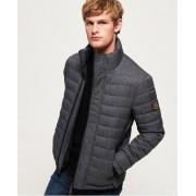 Superdry Fuji Tweed-Jacke mit Doppelreißverschluss XS grau