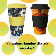 Set pahare bambus ,Have a nice day!