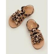 Mini Leopard Gladiatorensandalen aus Leder Mädchen Boden, 38, Brown