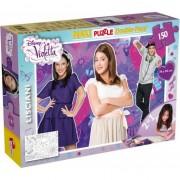 Puzzle Lisciani, SuperMaxi cu 2 fete, Violetta, Muzica si distractie, 150 piese