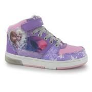 Sneaker hi top Disney Frozen cu luminite roz lila