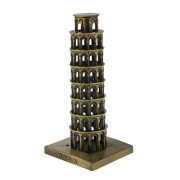 Magideal Leaning Tower of Pisa Model Home Decor Metal Craft Furnishing Article 15.5CM