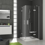 Ravak SmartLine SMSRV4-90 Sarokbelépõs zuhanykabin króm kerettel, transparent edzett biztonsági üveg betéttel 1SV77A00Z1