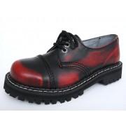 boty KMM 3dírkové - Red/Black - 030