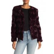 Sanctuary Faux Fur Jacket Regular Petite DARK SHIRA