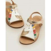 Mini Gold Einhorn-Sandalen Mädchen Boden, 35, Gold