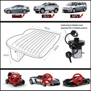 PR Car Travel Inflatable Mattress Air Bed Camping Universal SUV Back Seat Couch with Pump (Colour May Vary) -for Chevrolet Tavera Neo
