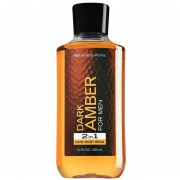 Hair + Body Wash para caballero de Bath & Body Works Dark Amber de 295 ml