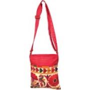 Minky's Decor Bag Antique Passport Red1 Multicolor Sling Bag