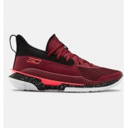 Under Armour Adult UA Curry 7 Basketball Shoes Red 45