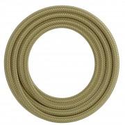Calex kabel textiel 2x0,75mm2 1,5M metallic goud