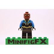 Custom Lego Black Lightning Minifig DC Comics Superhero Justice League Jefferson Pierce