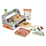 Melissa & Doug Top and Bake Wooden Pizza Counter Play Food Set