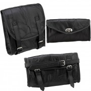DBE 3pc Motorcycle Luggage Completer Set Bags DBEMOTOLGWTS