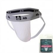 """MM Original Edition Bike Style Adult Supporter 2"""" Waistband Jock Strap Underwear White/Grey"""