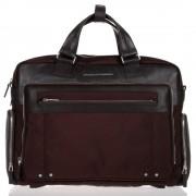 Piquadro Cartella Porta Pc 15 e iPad con Organizzazione Interna - CA1585LK in Pelle e Tessuto Marrone