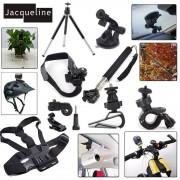 Jacqueline voor Kit Accessoires Mount Set voor Sony Action Cam HDR AS300 AS50 AS20 AS200V AS30V AS100V AZ1 mini FDR-X1000V/W 4 k