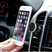 360 Degree Rotatable Universal Non Magnetic Nanometer Micro-suction Car Air Vent Phone Holder Stand for 3.5 - 5.5 inch Mobile Phones (Silver)