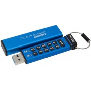Stick USB Kingston Data Traveler 2000, 16GB, USB 3.1, securizat (Albastru)