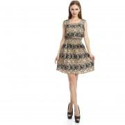 Vestido Chaleco Falda Floral De La Gasa Impresa Falda Sin Mangas - Multicolor 17#