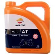Repsol Moto Sintético 4T 10W-40 4 Litres Boîte