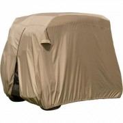 Classic Accessories Fairway Golf Cart Easy-On Cover - Fits Club Car Precedent, Yamaha Drive and EZ Go, Model 74442, Tan