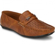 JK Port Men's Tan Synthetic Leather Casual Loafer
