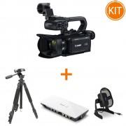 Kit Live Streaming Canon XA11 + Placa de Captura + Microfon USB + Trepied