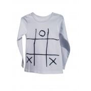 Bluza maneca lunga pentru copii si cu aplicatie X si 0