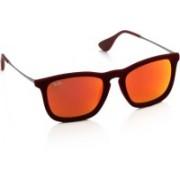 Ray-Ban Wayfarer Sunglasses(Red, Multicolor)