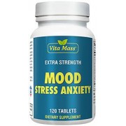 vitanatural mood stress anxiety - humör stress ångest - 120 tabletter