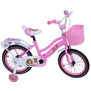 """Bicicleta pentru fetite, Free Star, 12"""", roti ajutatoare, cos de depozitare, cadru din otel"""