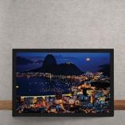 Quadro Decorativo Vista Rio de Janeiro Praia Pao de Acucar 25x35