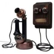 Telefone Vintage Retrô Castiçal com Campainha Externa