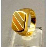 Zlatý pánsky prsteň z trojfarebného zlata VP64653V