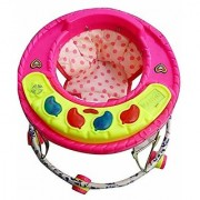 NewAge High Quality Baby Walker with Big Music System - Round Base with Wheels 9 Months to 1.5 Years Pink (Pink)