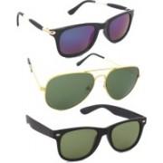 Fash-On India Wayfarer Sunglasses(Grey, Green, Blue)