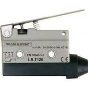 Limitator de cursă cu tijă şi arc - 1xCO, 10A/250V AC, 65mm, IP40 LS7120 - Tracon