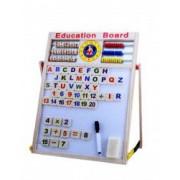 Tabla educativa magnetica lemn cu doua fete 43.5 x 32 cm