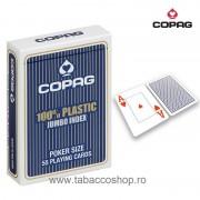 Carti de joc Copag 100% Plastic Jumbo Index Blue
