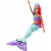 Papusa Barbie sirena cu coronita albastra
