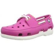 Crocs Kids Unisex Fuchsia and White Rubber Sneakers - J2